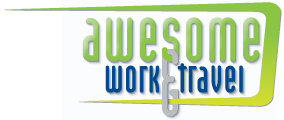 Awesome Work and Travel Logo